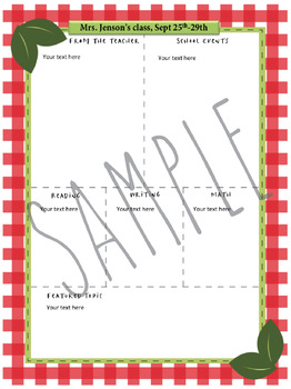 Aug, Sep, Oct, Nov Newsletter templates with fill in and editable versions