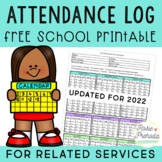 Related Service Attendance Log - Academic Year