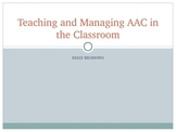 Augmentative and Alternative Communication (AAC) in the Classroom