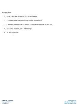 Augmented 1st Grade English - Main Topics and Ideas
