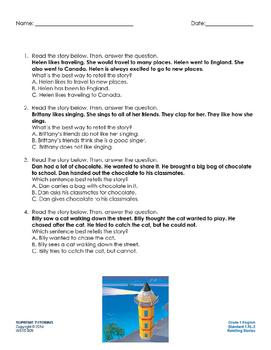 Augmented 1st Grade English Retelling Stories
