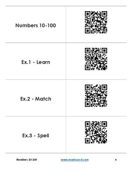 Augmented Flashcards - Numbers 10-100
