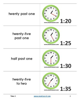 Augmented Flashcards - Time - 3