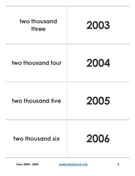 Augmented Flashcards - Years 2000-2009
