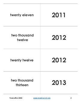Augmented Flashcards - Years after 2010