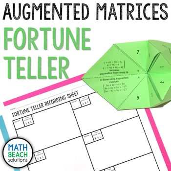 Augmented Matrices Fortune Teller Activity