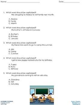 Augmented Reality 1st Grade English - Capitalization