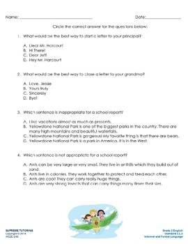 Augmented Reality 2nd Grade English - Informal and Formal Language