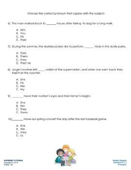 Augmented Reality 2nd Grade English - Pronouns