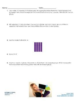 Augmented Reality 3rd Grade Math - Model Multiplication an
