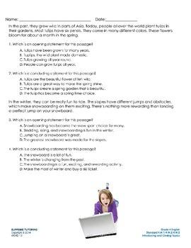 Augmented Reality 4th Grade English - Introducing Closing Topics