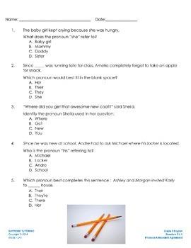 Augmented Reality 5th Grade English - Pronoun-Antecedent A