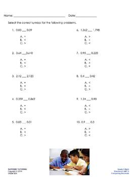 Augmented Reality 5th Grade Math - Comparing Decimals