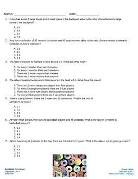 Augmented Reality 6th Grade Math - Ratios and Ratio Language