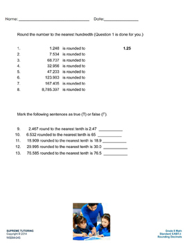 Augmented Reality 5th Grade Math - Rounding Decimals