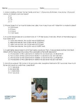 Augmented Reality 7th Grade Math - Single-Step Real World