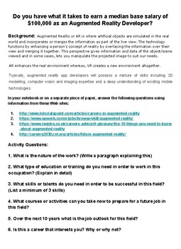 Augmented Reality Developer : STEM Careers of the Future Webquest
