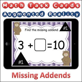 Augmented Reality MATH Task Cards Using Aurasma - Missing Addends