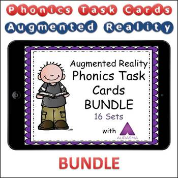 Augmented Reality Phonics Task Cards Using Aurasma - 16 SET BUNDLE