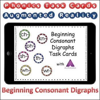 Augmented Reality Phonics Task Cards Using Aurasma - Beginning Digraphs