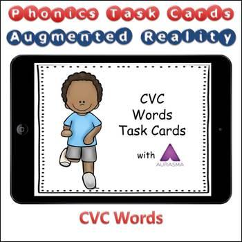 Augmented Reality Phonics Task Cards Using Aurasma - CVC Short Vowel Words