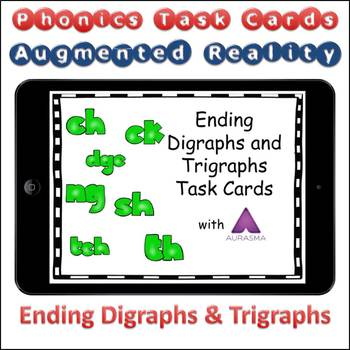 Augmented Reality Phonics Task Cards Using Aurasma - Ending Digraphs Trigraphs