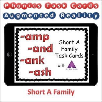 Augmented Reality Phonics Task Cards Using Aurasma - Short Vowel A Family
