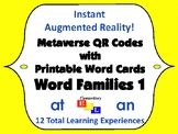 Augmented Reality Phonics Word Families (Metaverse QR Codes & Printable Cards)
