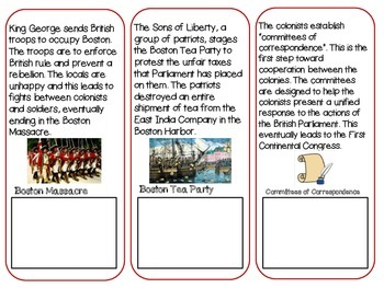 Augmented Reality Timeline Activity: The Beginning of the American Revolution