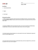 August 14 Cnn10 Daily Worksheet