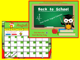 August First Grade Calendar for ActivBoard