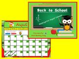 August Kindergarten Calendar for ActivBoard