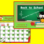 August Kindergarten Calendar for ActivBoard