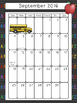 August 2016 - June 2017 Calendars
