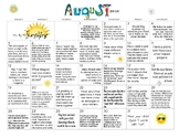 August 2018- Early Learning Activity Calendar