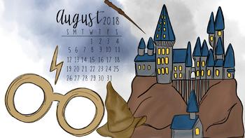 August 2018 Harry Potter Themed Computer Wallpaper