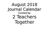 August 2018 Journal Calendar