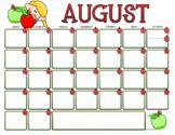 August 2020 Calendar Pack