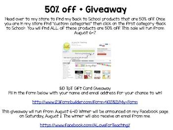 August 50% off BTS Sale + Giveaway!