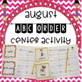 August ABC Order Center