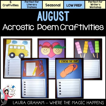 August Acrostic Poem Craftivities