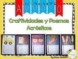 August Acrostic Poem Craftivities in Spanish