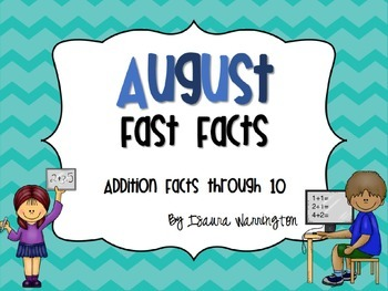 August Addition Fast Facts