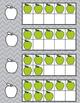 August Apple Back to School Ten Frames - Write &Wipe Numbe