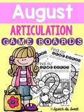 August Articulation Game Boards