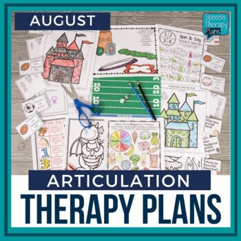 August Articulation Therapy Plans
