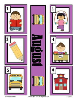 August-Back To School-Calendar Pieces