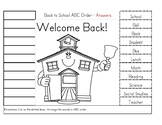 August Back to School ABC Order with Fact and Opinion
