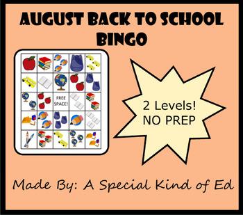 School BINGO! - 2 levels!