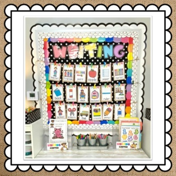 August Back to School Big Writing Station Cards